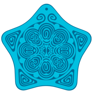 EMF, Personal Boundary, Aura, Biofield, Protection Antenna, Anxiety Reduction & Stress Relief Holistic Alternative, Powerforms Serenity Star Shield - Child