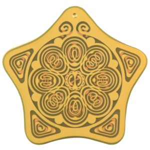 EMF,Personal Boundary, Aura, Biofield, Protection Antenna, Anxiety Reduction, Stress Relief, Holistic Alternative, Powerforms Serenity Star Shield